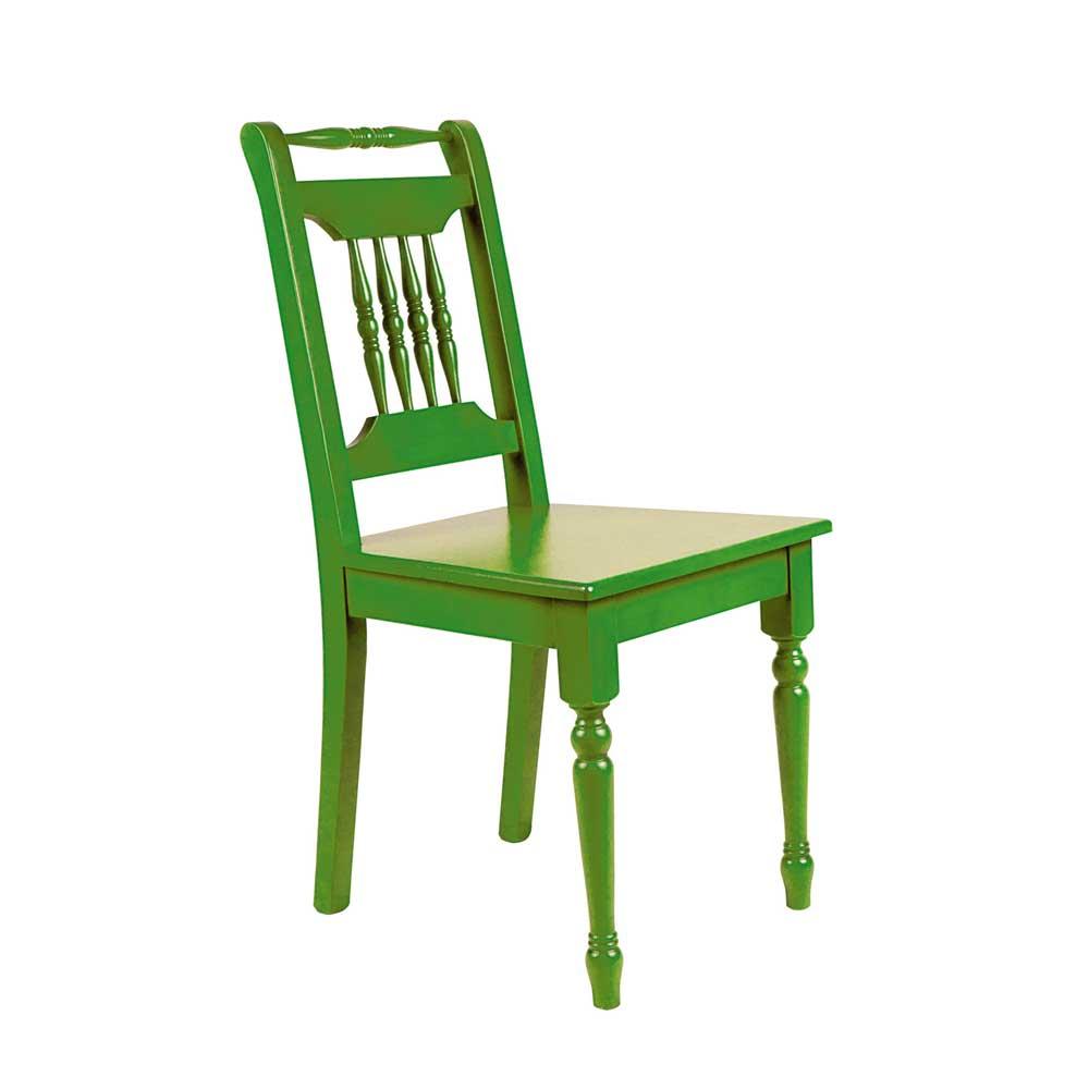 Holzstuhl in Grün Fichte Massivholz | Küche und Esszimmer > Stühle und Hocker > Holzstühle | Grün | Massivholz | Dreaming Forest