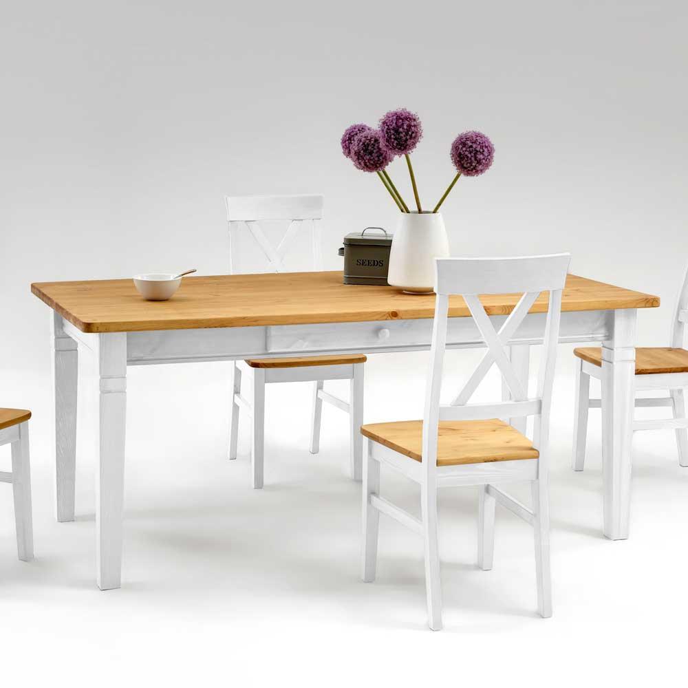 Esstisch mit Schubladen Landhaus