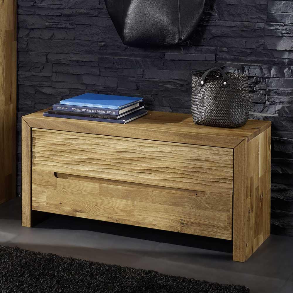 sitzbank mit klappe wildeiche massivholz 879 b2b trade. Black Bedroom Furniture Sets. Home Design Ideas