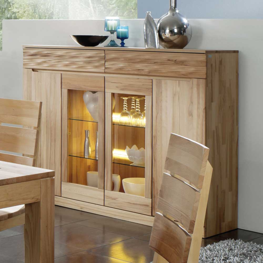 Highboard aus Kernbuche Massivholz Esszimmer