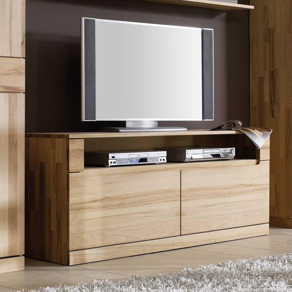 TV Möbel aus Kernbuche Massivholz 160 cm breit