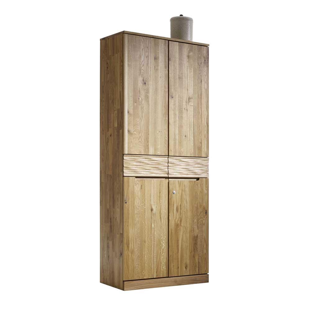 Büroschrank aus Wildeiche Massivholz mit Schublade | Büro > Büroschränke > Aktenschränke | Dreaming Forest