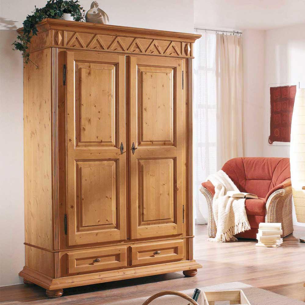 Dielenschrank aus Fichte Massivholz antik lackiert | Flur & Diele > Mehrzweckschränke | Holz | Massivholz | Dreaming Forest