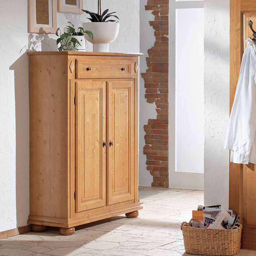 Garderoben Vertiko aus Fichte Massivholz abschließbar