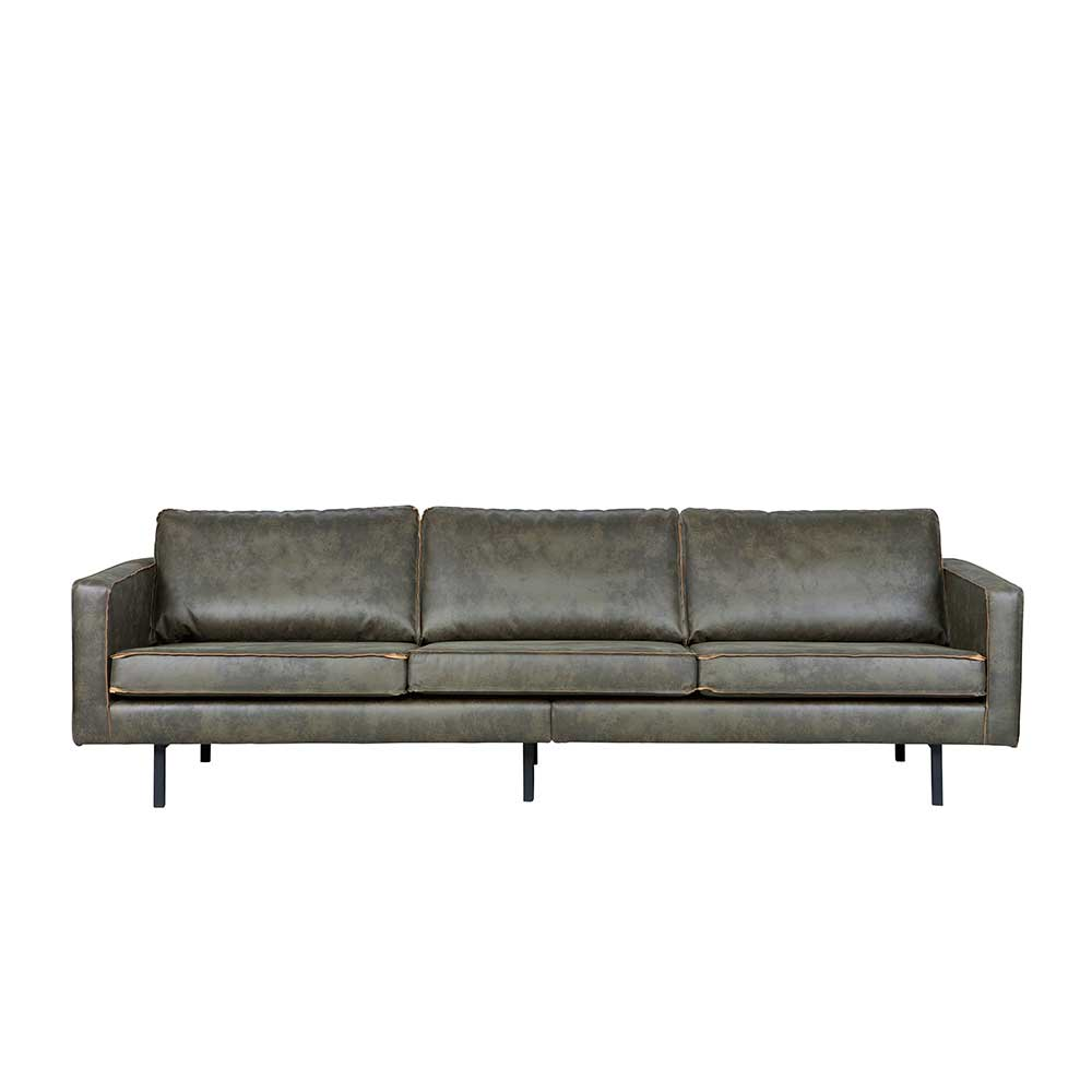 Lounge Couch in Grau Braun modern