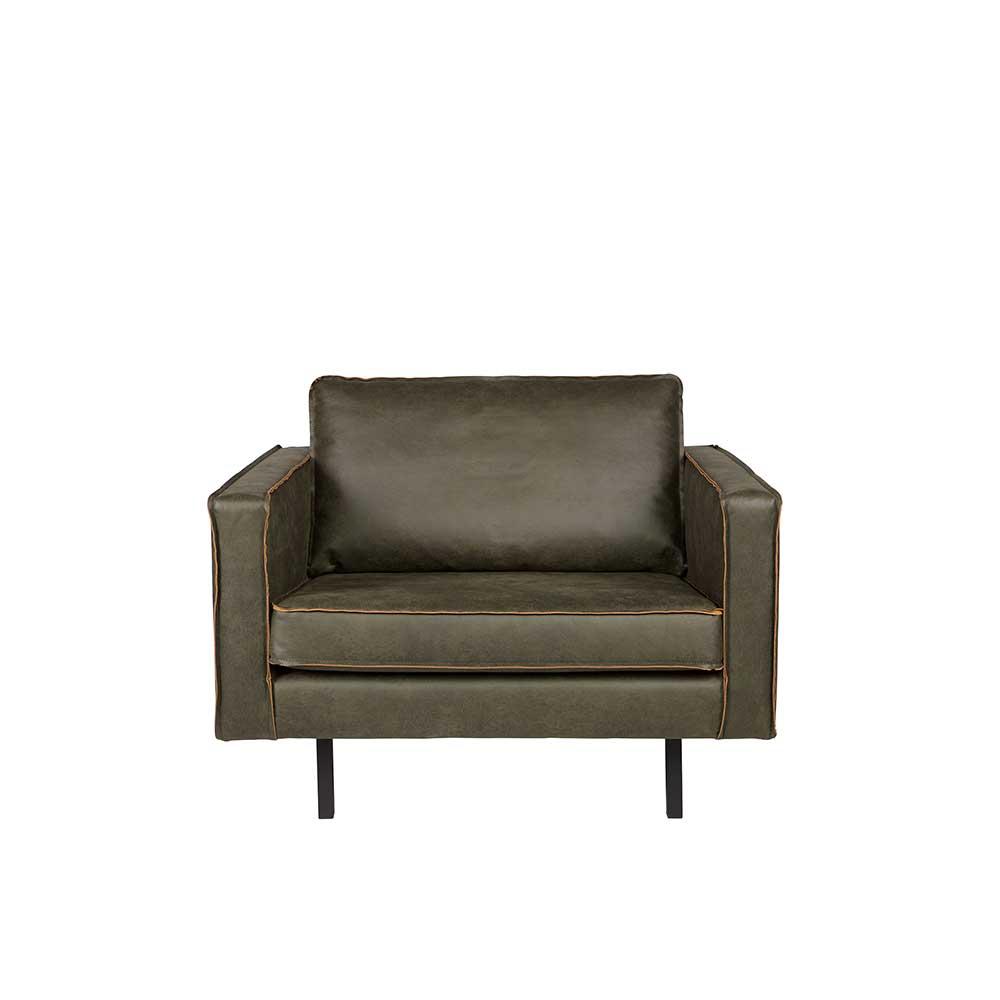 Loungesessel in Grau Braun modern