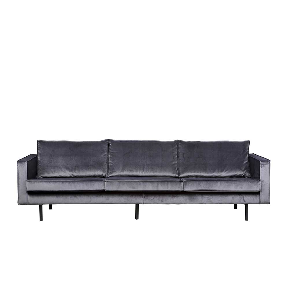 Lounge Couch in Grau Stoff