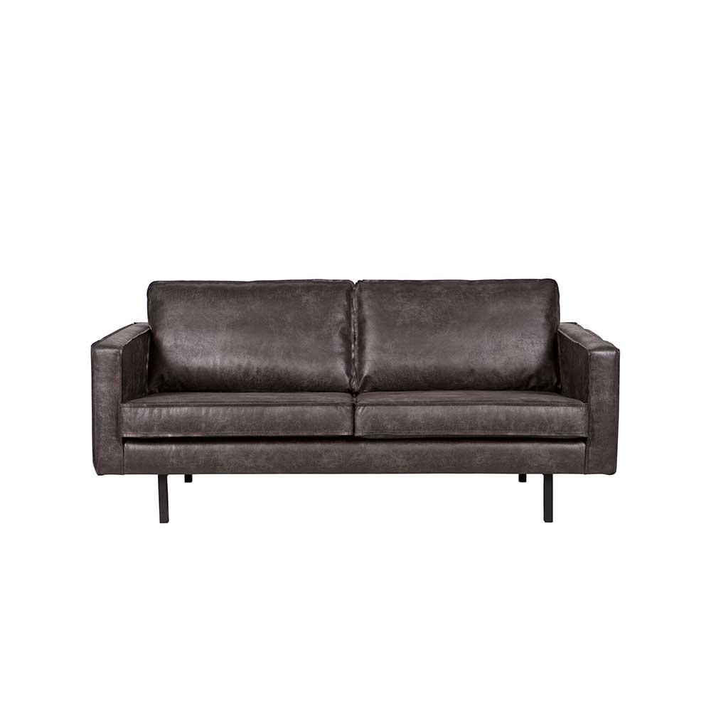 2 Sitzer Sofa in Schwarz modern