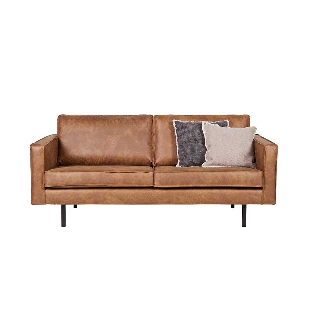 Lounge Sofa in Cognac Braun recycling Leder
