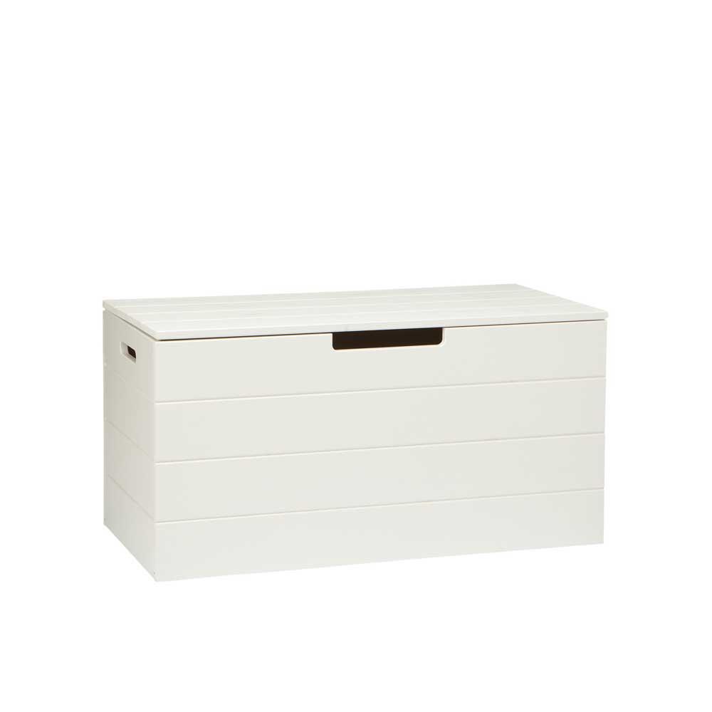 Truhe in Weiß Kiefer Massivholz | Wohnzimmer > Truhen | Weiß | Massivholz | Basilicana
