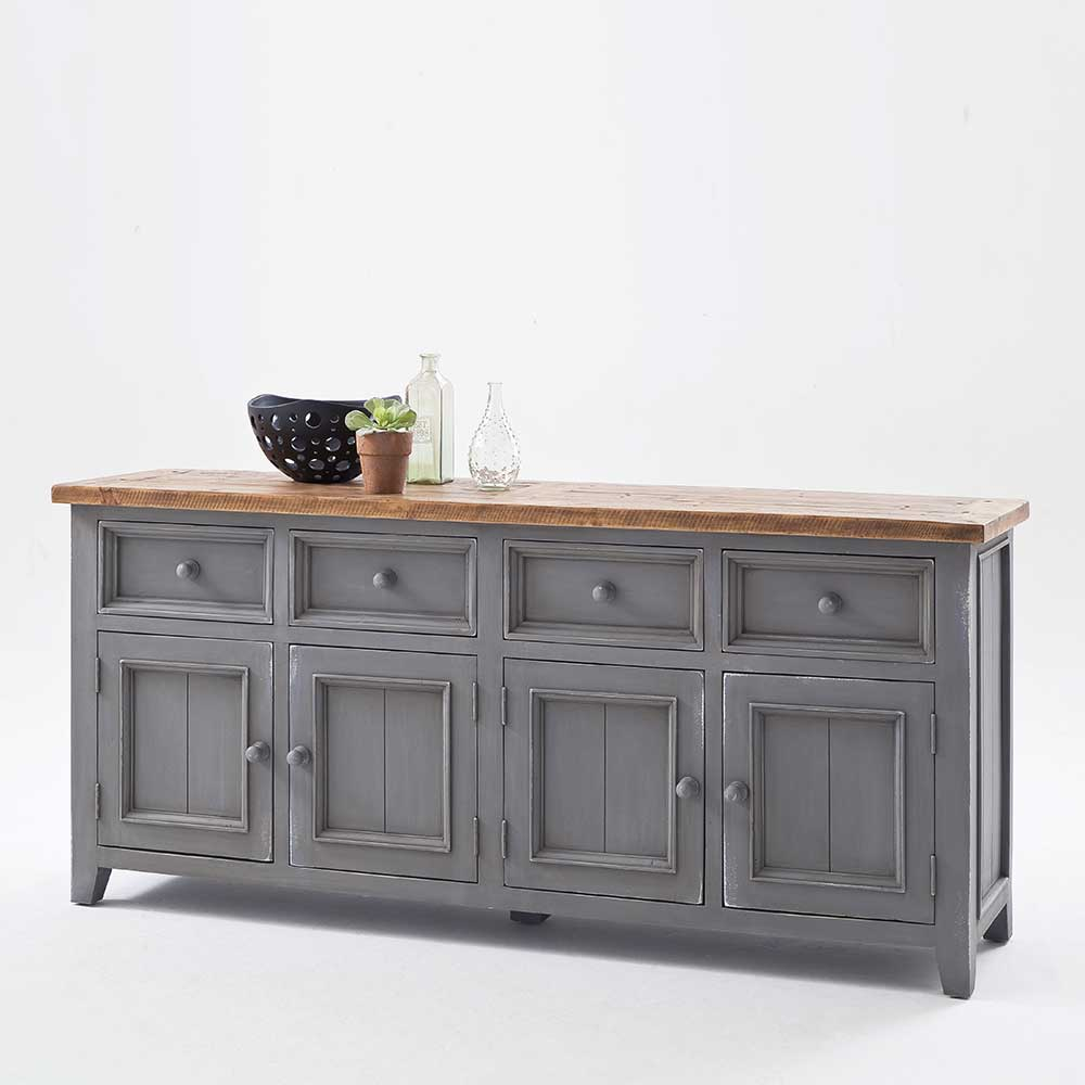 Esszimmer Sideboard in Grau Kiefer Landhausstil