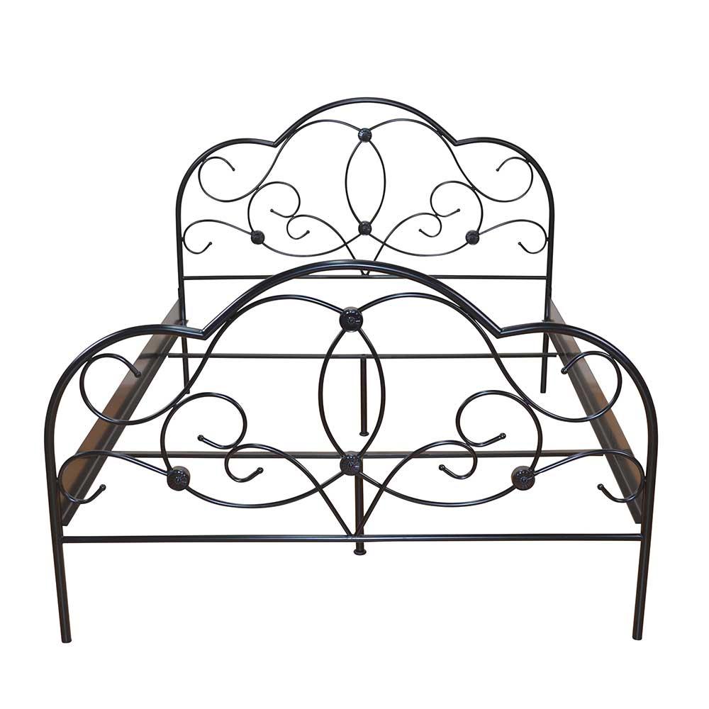 Metallbett in Schwarz Romantisches Design | Schlafzimmer > Betten > Metallbetten | Schwarz | Metall | Möbel4Life