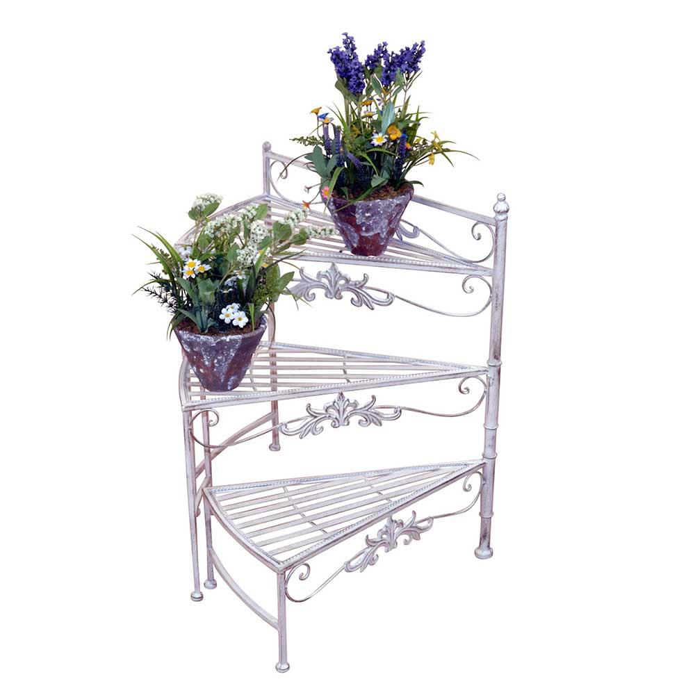 Blumenständer Treppe in Creme Weiß Landhaus   Dekoration > Dekopflanzen > Blumenständer   Möbel4Life