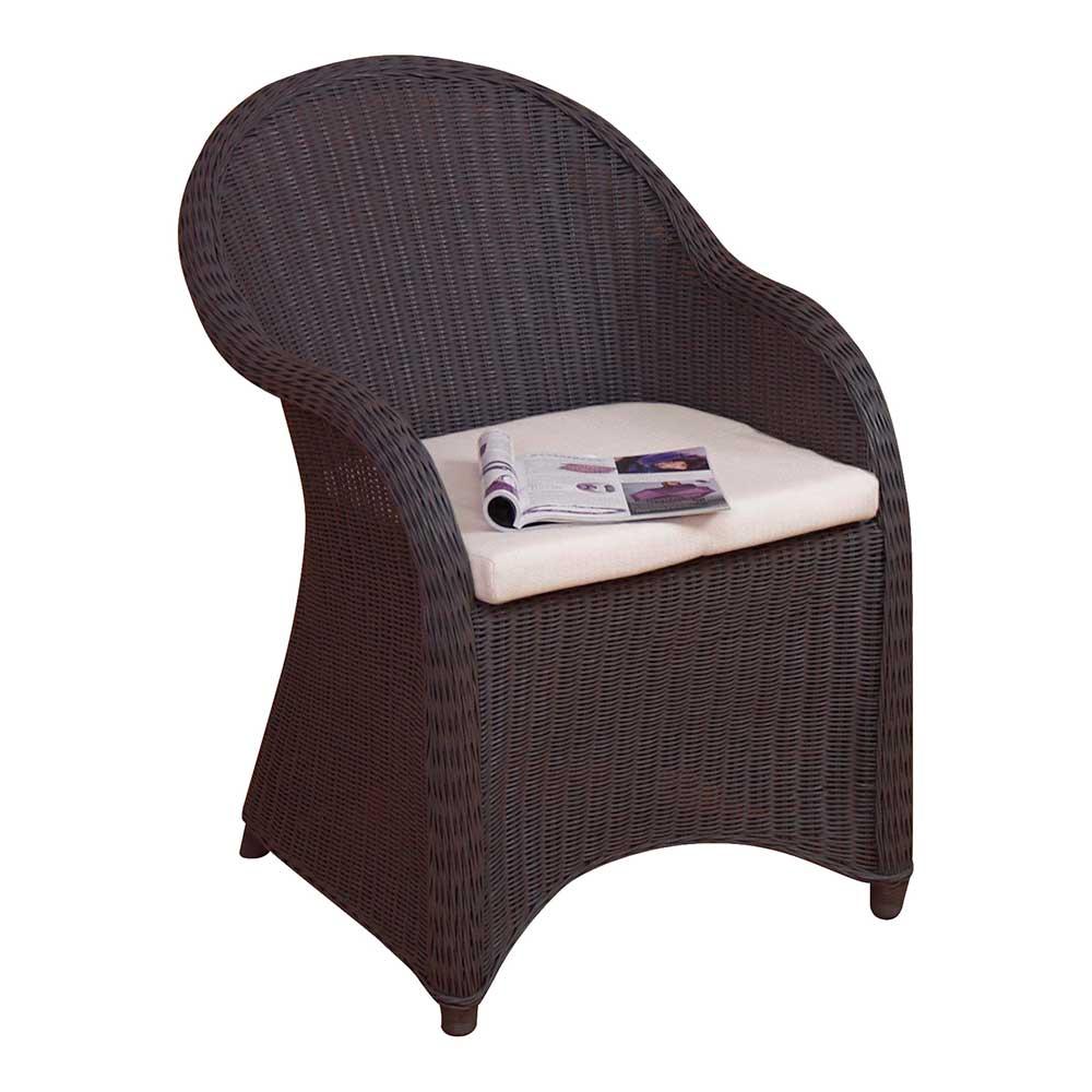 Rattansessel in Braun Esstisch | Wohnzimmer > Sessel > Rattansessel | Möbel4Life