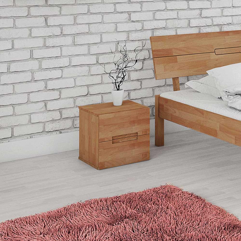 Nachttisch aus Buche Massivholz 40 cm breit