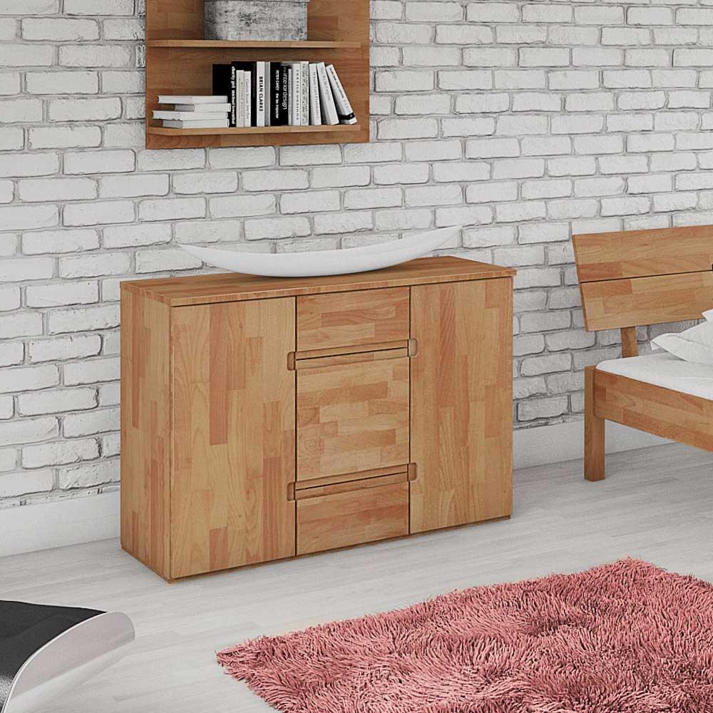 Schlafzimmer Kommode aus Buche Massivholz 110 cm | Schlafzimmer > Kommoden > Wäschekommoden | Buche - Massivholz - Holz - Massiv - Geölt | Basilicana