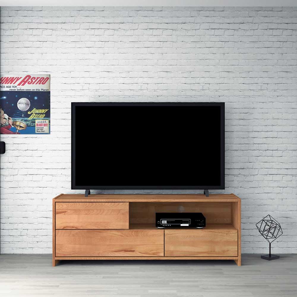TV Lowboard aus Kernbuche Massivholz 150 cm