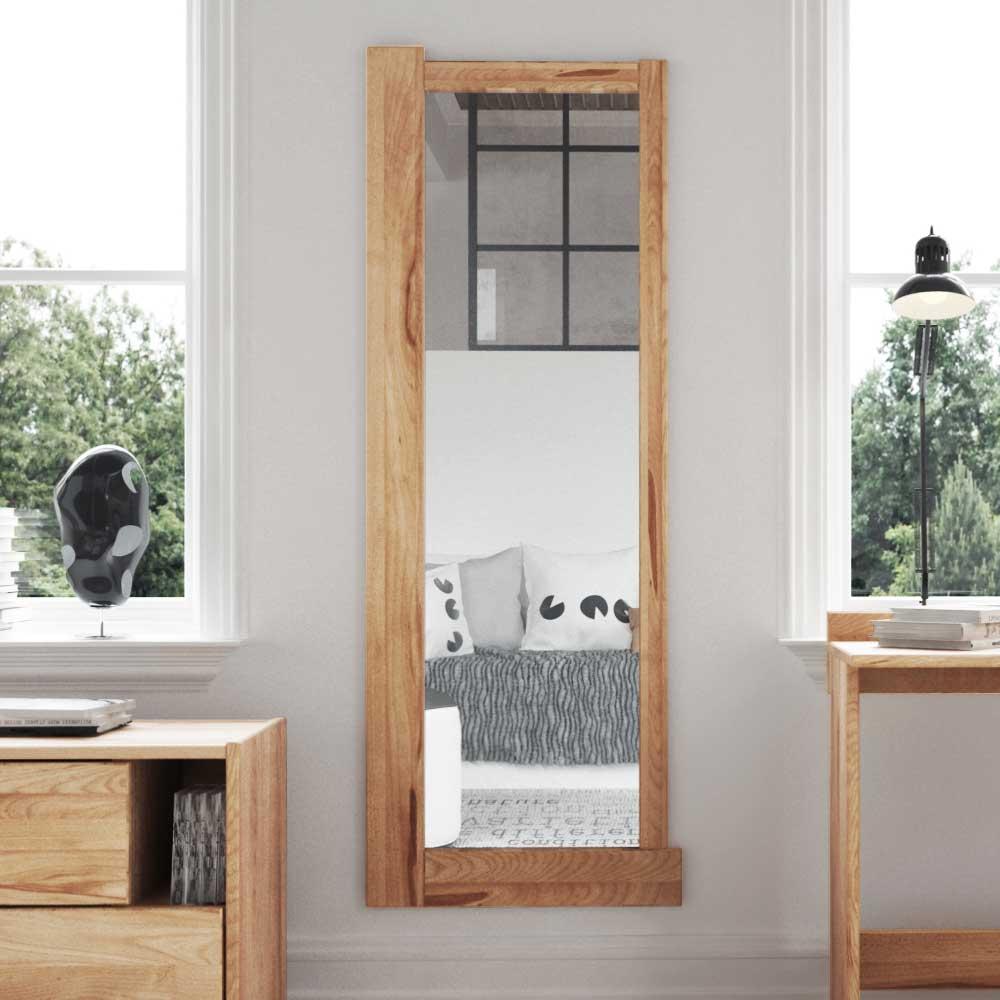 Garderobenspiegel aus Kernbuche Massivholz 60 cm hoch | Flur & Diele > Spiegel > Garderobenspiegel | Basilicana