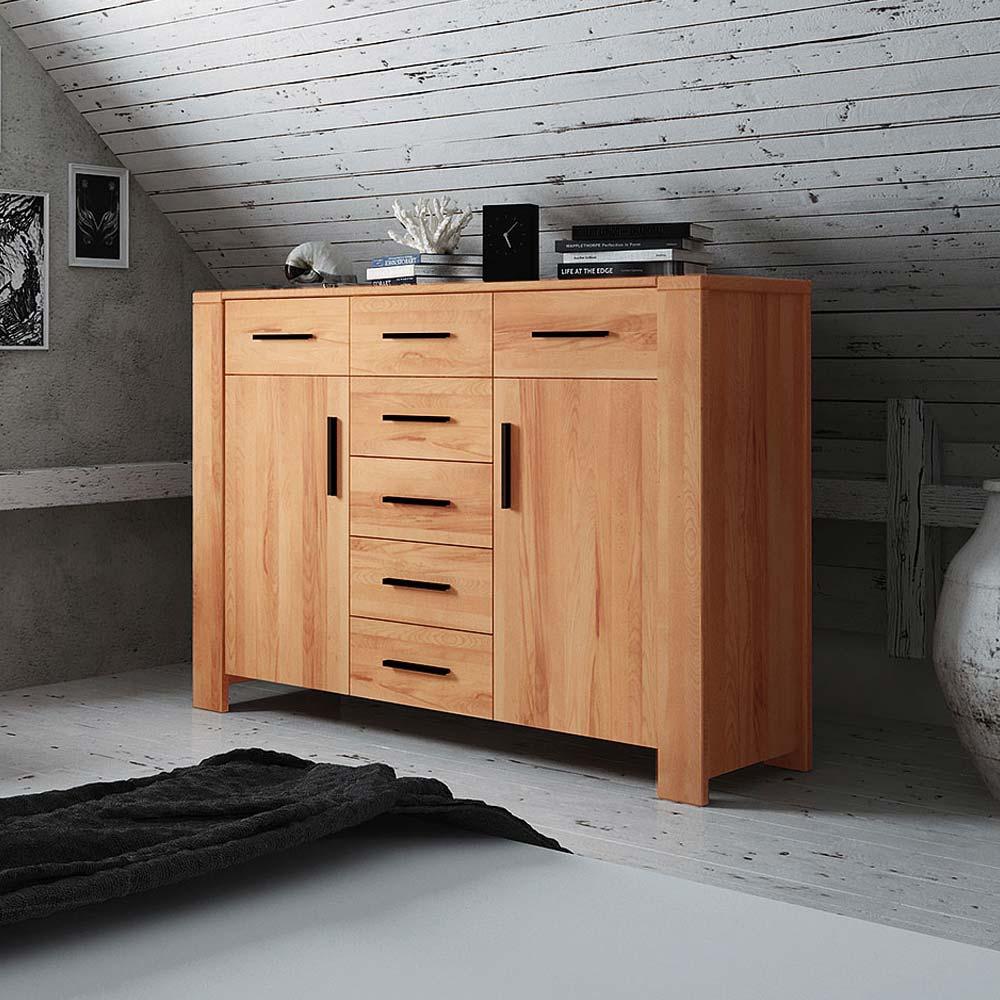 Sideboard echtholz modern for Wohnzimmermobel echtholz modern