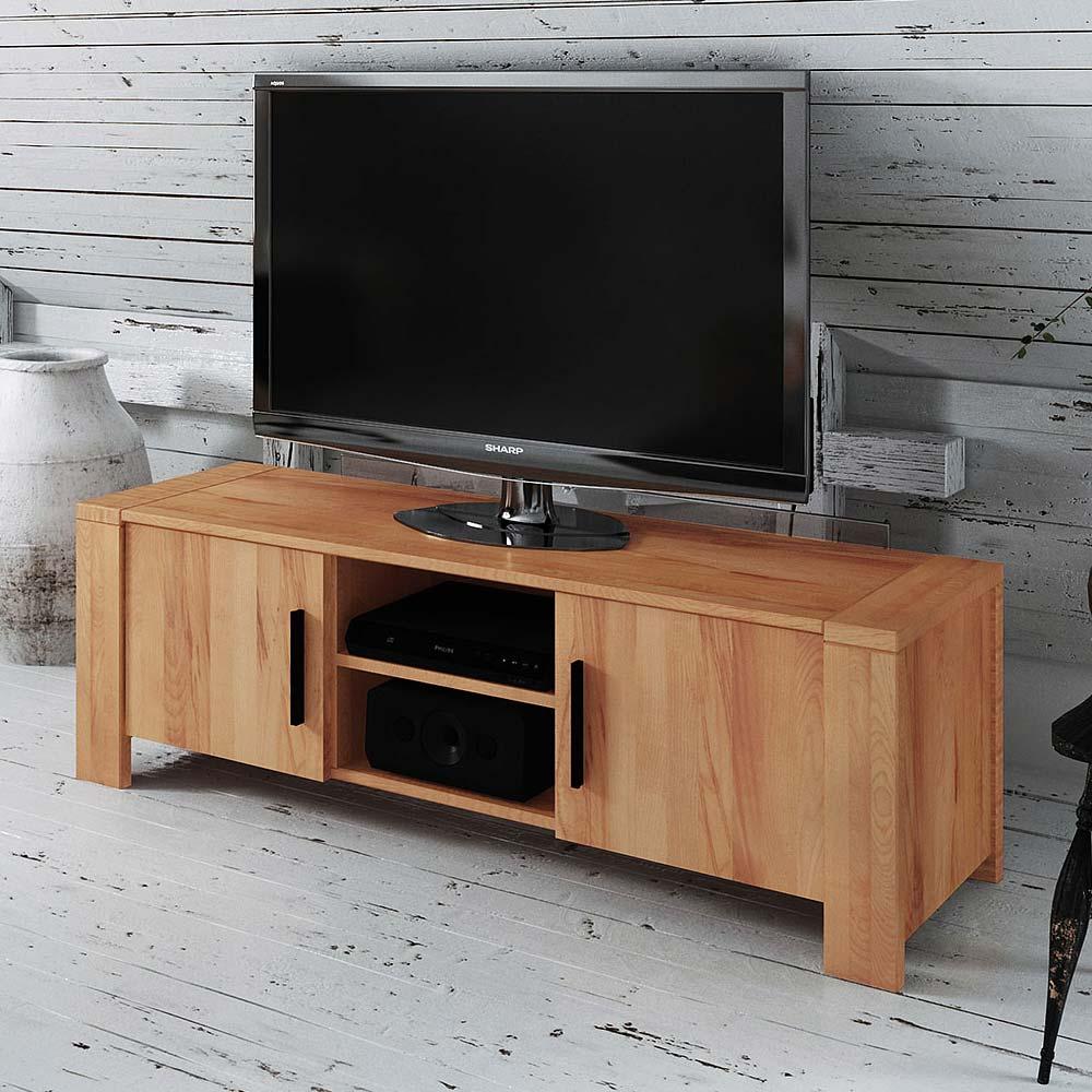 TV Board aus Kernbuche Massivholz 155 cm