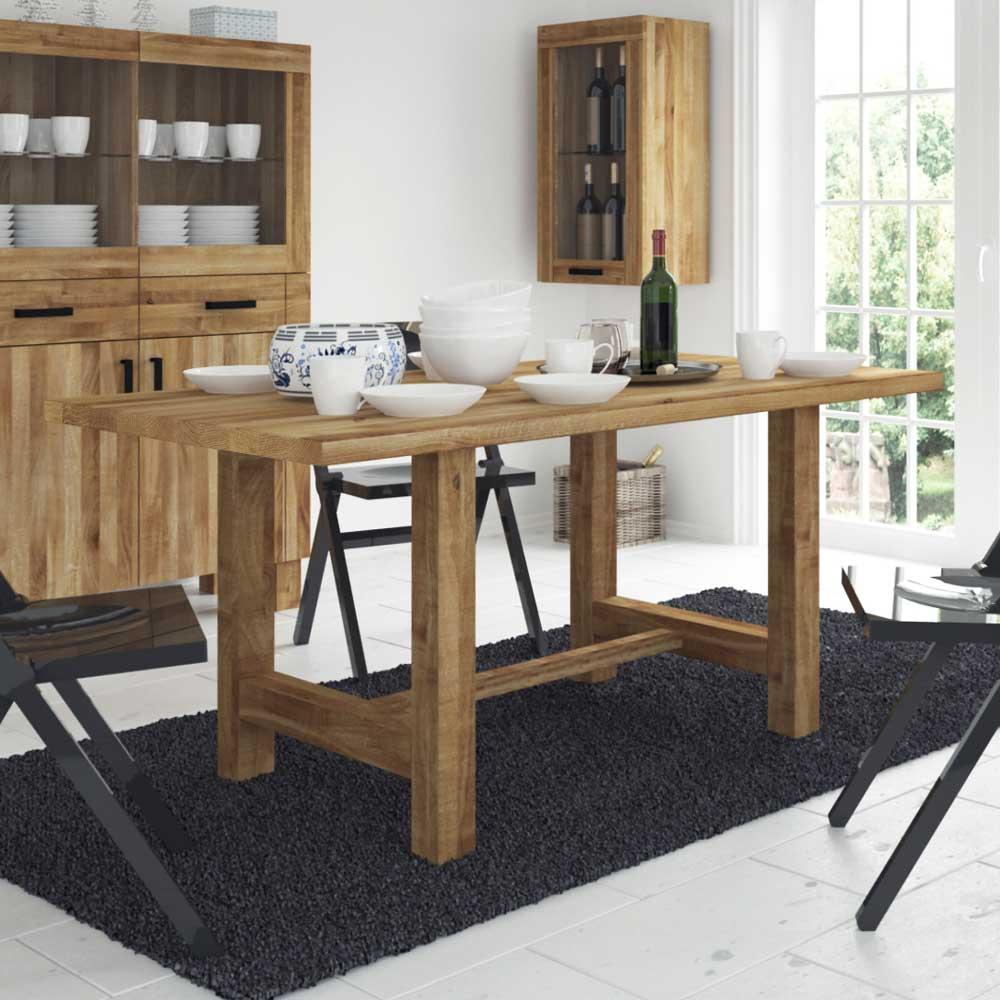 Massivholztisch aus Wildeiche geölt modern