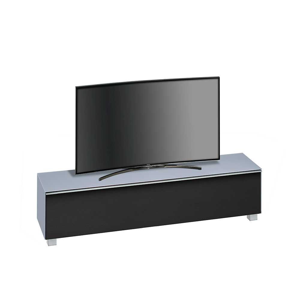 tv unterschrank in hellblau glas schwarz modern moebel suchmaschine