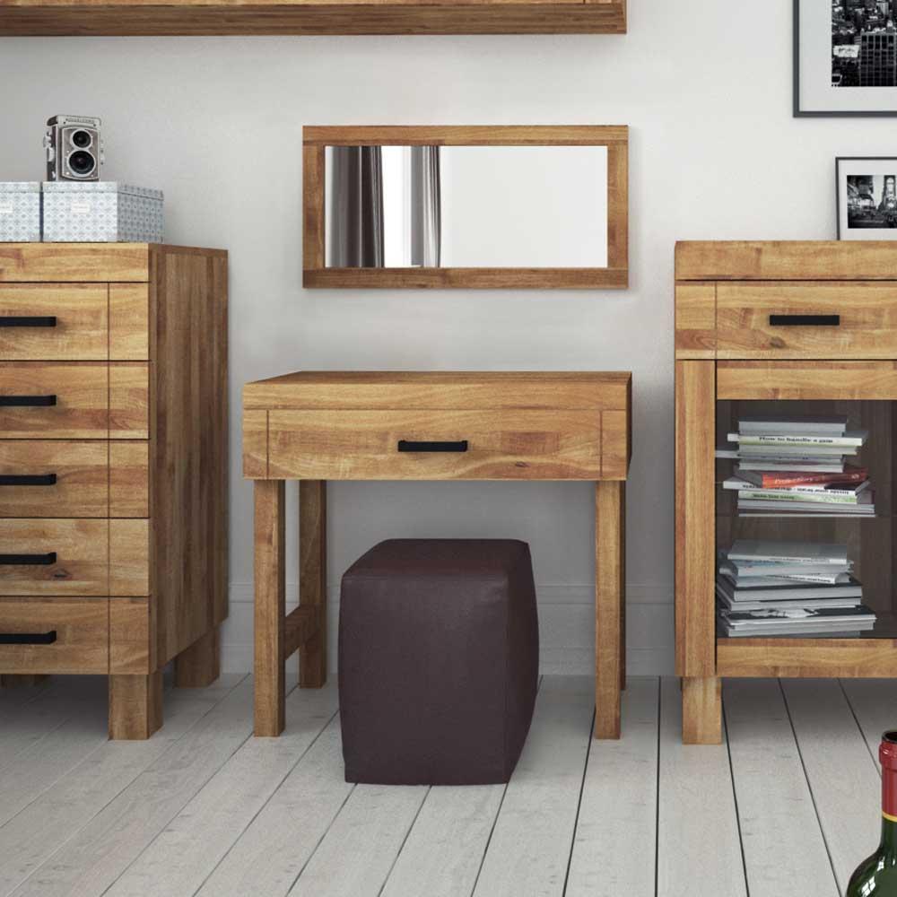 Schlafzimmermöbel Set aus Wildeiche Massivholz natur geölt (2-teilig)