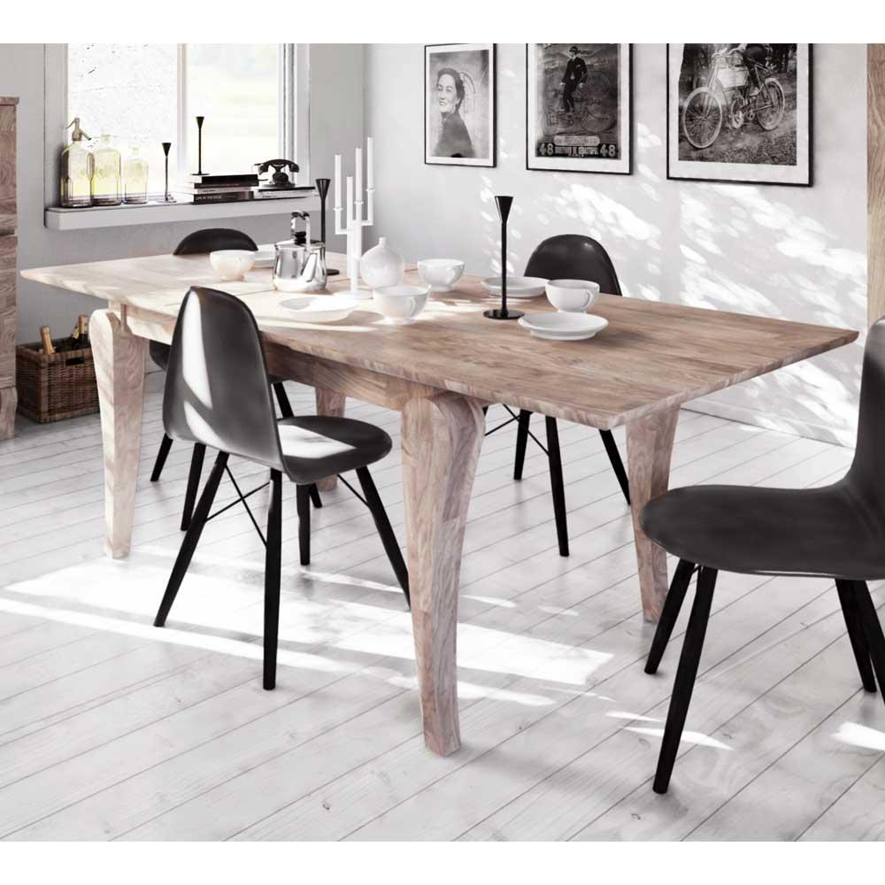 Ansprechend Esstisch Massivholz Weiß Referenz Von Design Aus Eiche Weiß Geölt