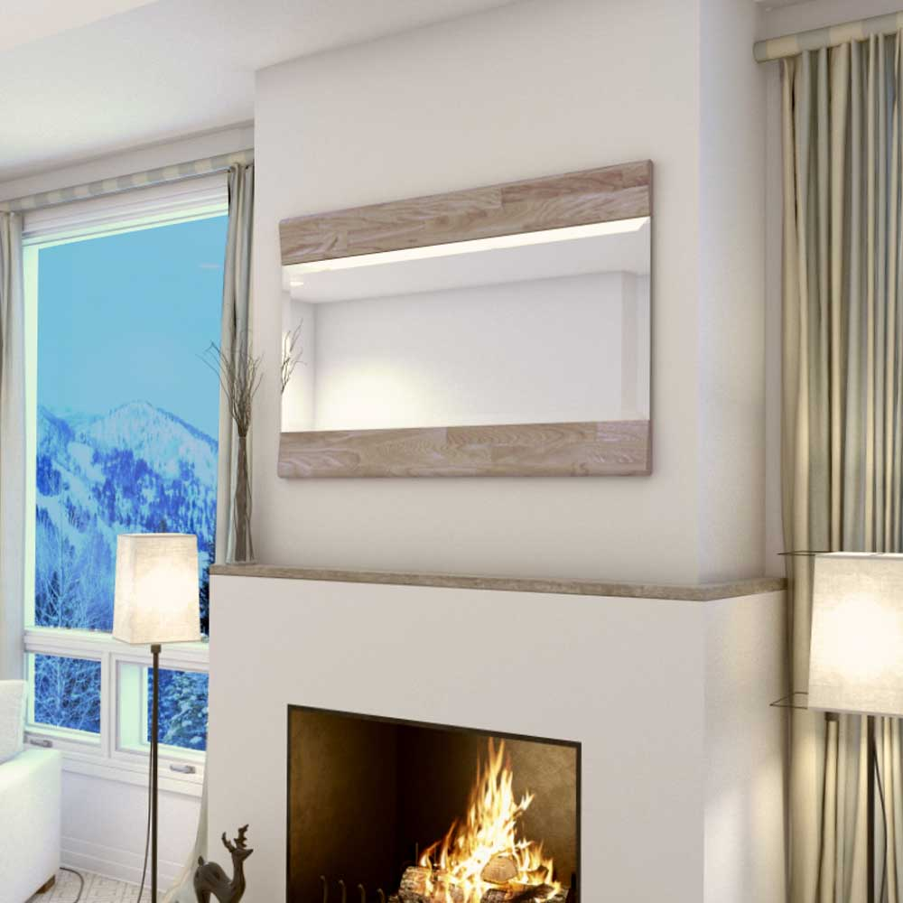 Garderobenspiegel aus Eiche Massivholz Weiß geölt | Flur & Diele > Spiegel > Garderobenspiegel | Holz | Glas | Basilicana