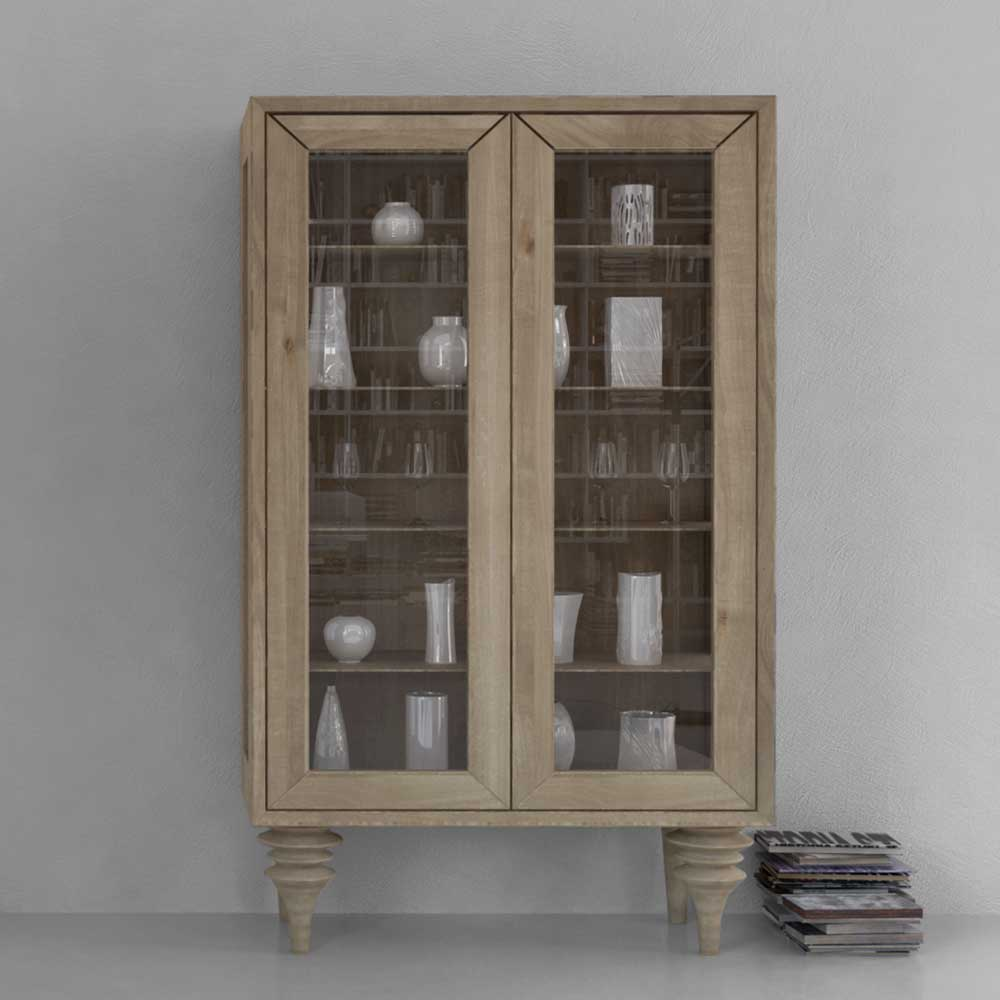 Bemerkenswert Vitrine Küche Foto Von Esszimmer Aus Wildeiche Massivholz Weiß Geölt