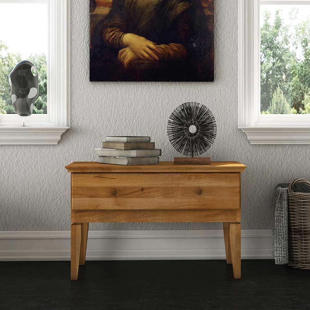 TV Board aus Wildeiche Massivholz 50 cm hoch