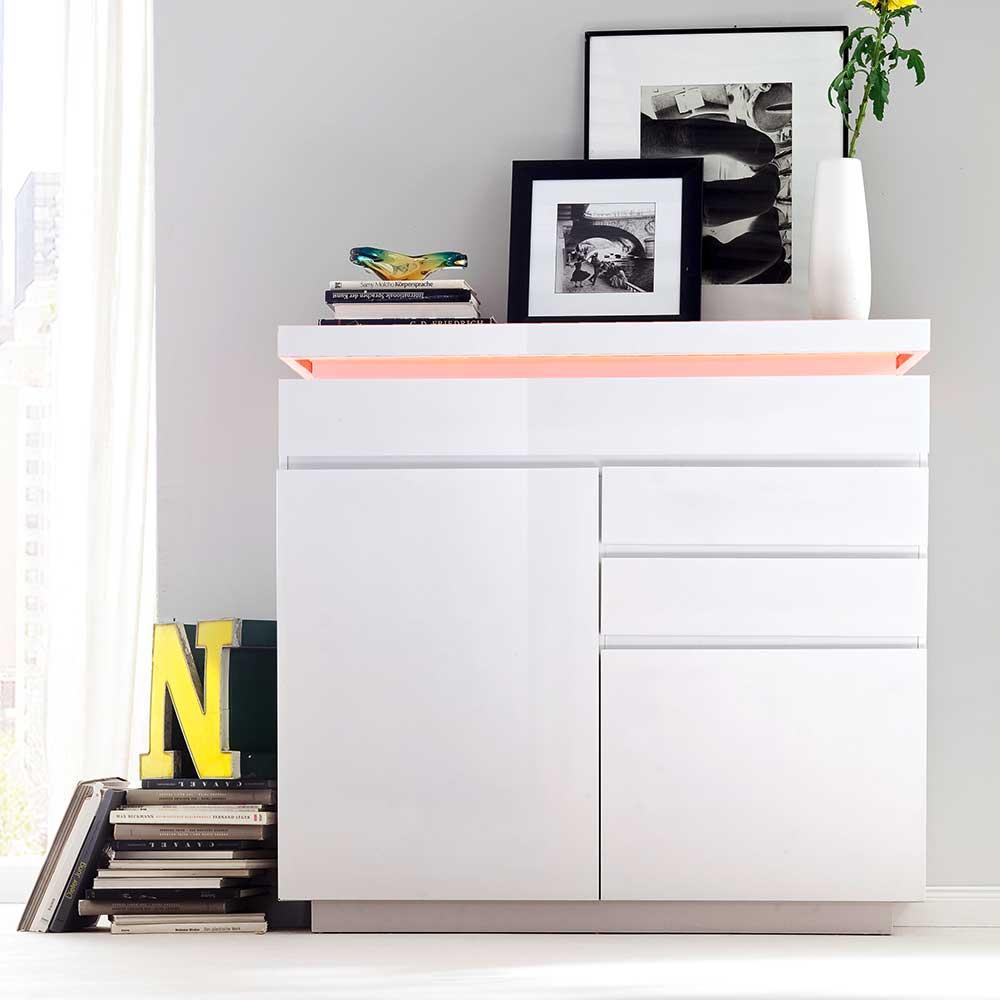 Wohnzimmer Sideboard mit LED Farbwechsel Beleuchtung modern