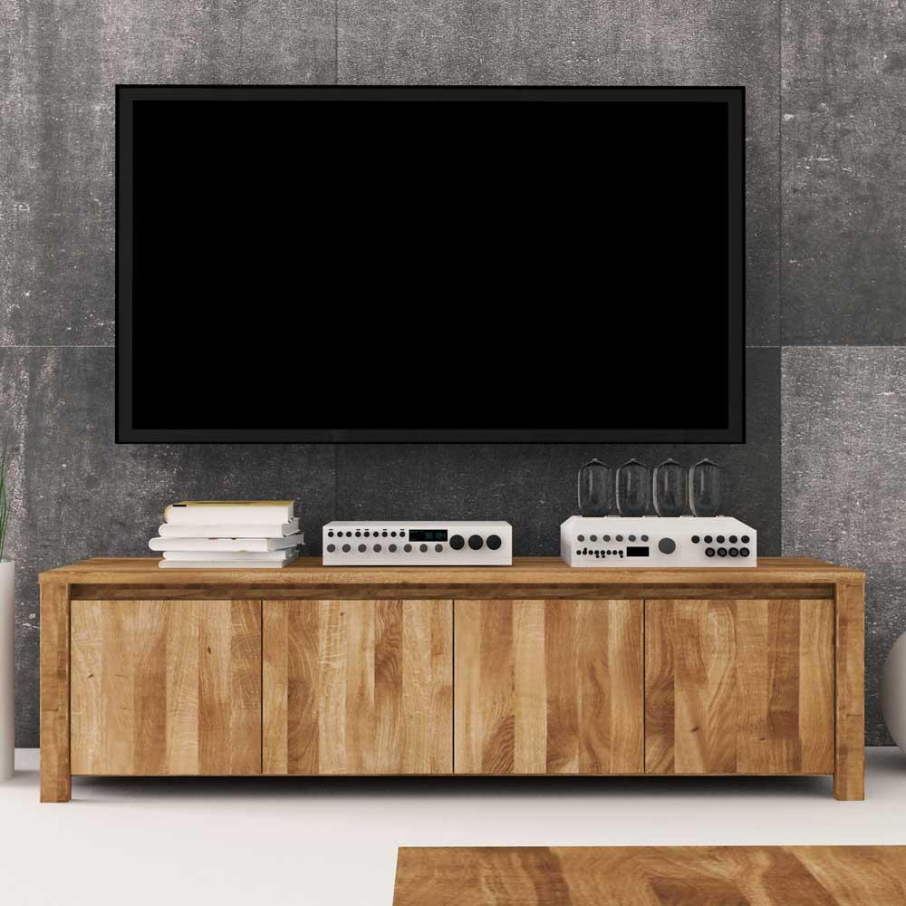 TV Lowboard aus Wildeiche Massivholz 150 cm