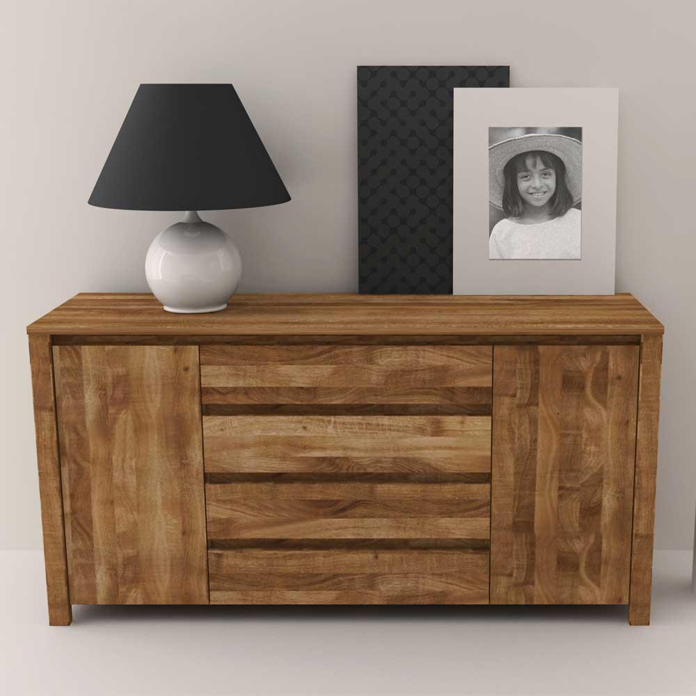 Massivholz Sideboard aus Wildeiche geölt 150 cm