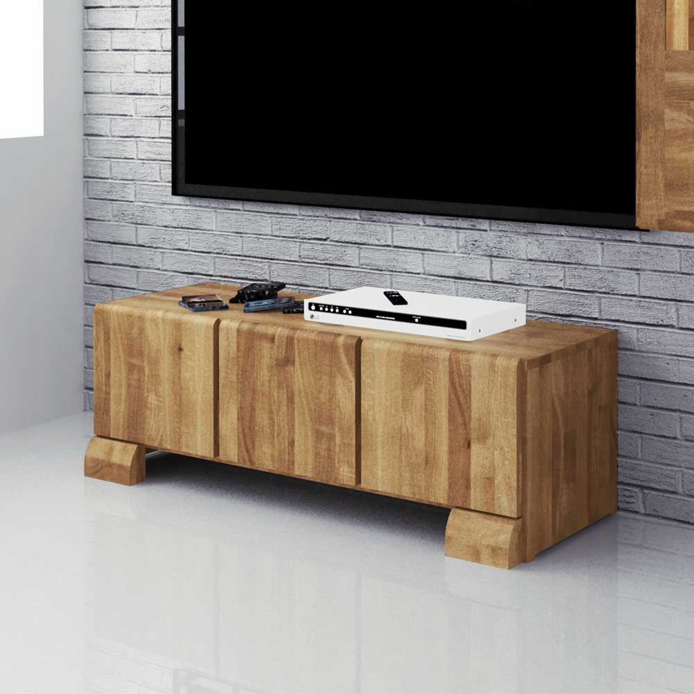 wildeiche lowboard massiv ge lt 120 cm velo bossmann. Black Bedroom Furniture Sets. Home Design Ideas