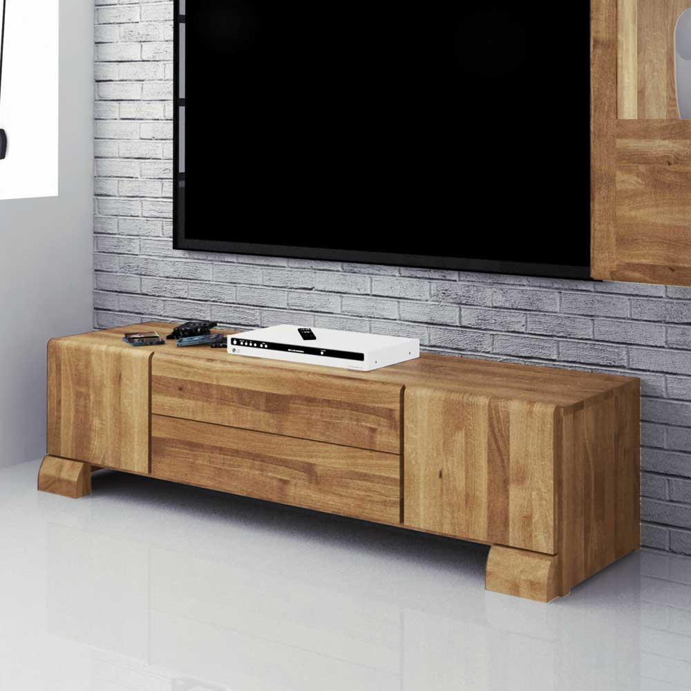 Massivholz Lowboard aus Wildeiche geölt 160 cm