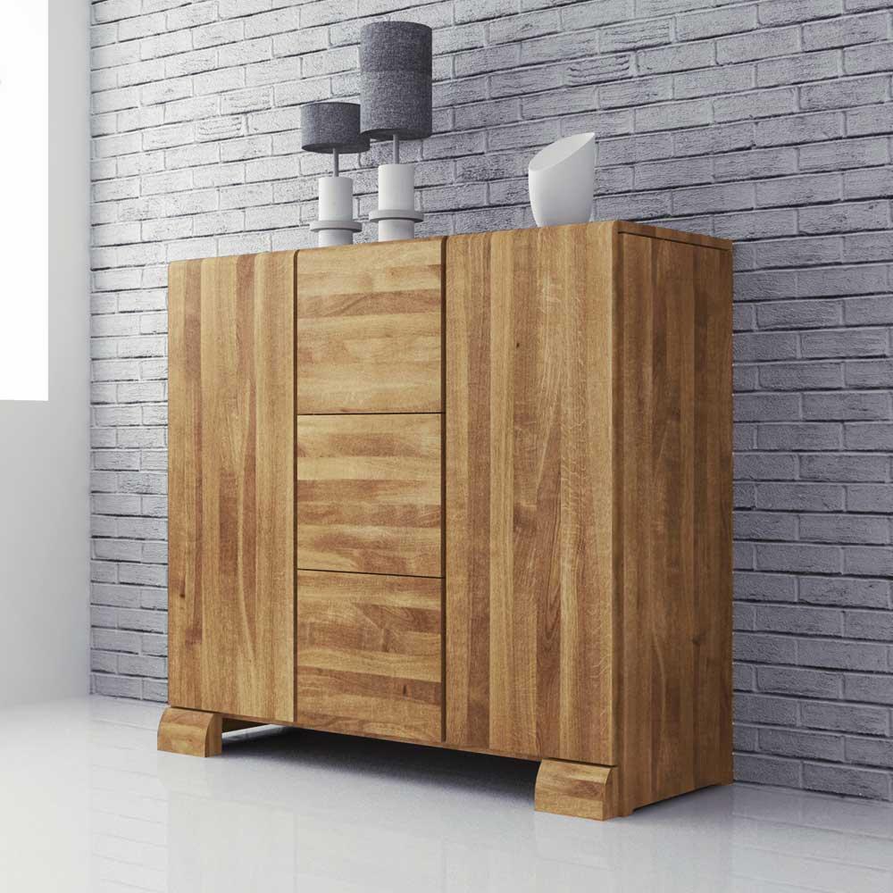 Wohnzimmer Sideboard aus Massivholz 120 cm