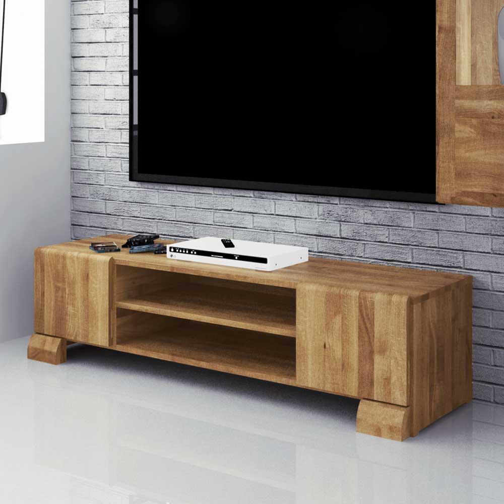 TV Board aus Wildeiche Massivholz 160 cm