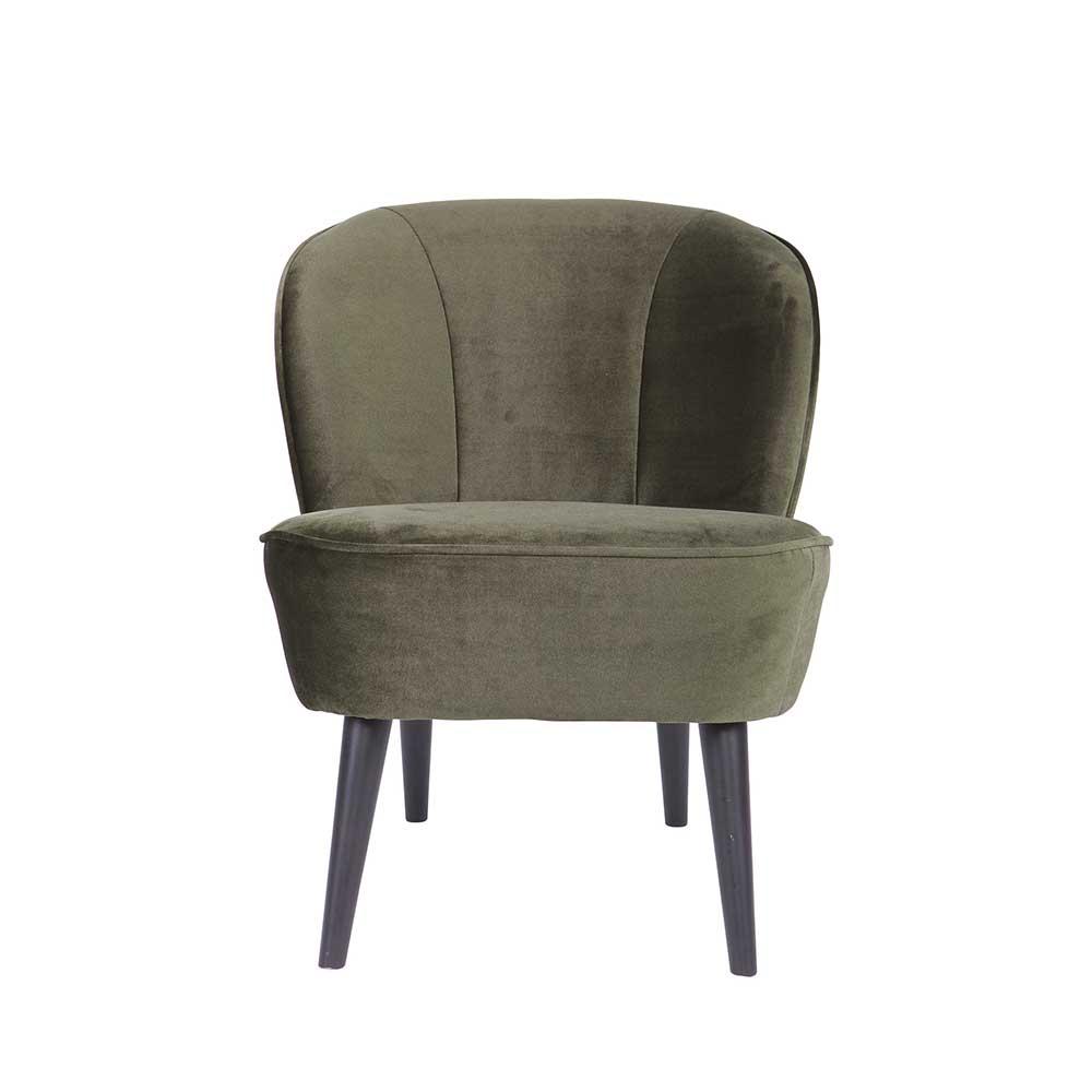 Design Sessel in Dunkelgrün Retro