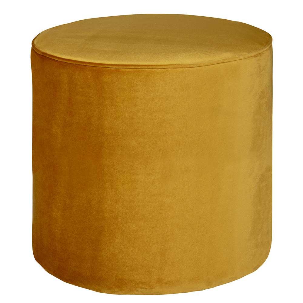 Sitzhocker Pouf in Gelb modern