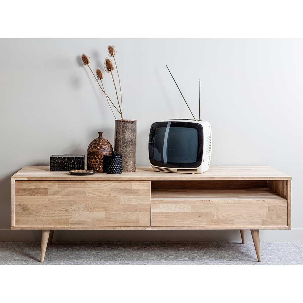 TV Board aus Eiche massiv 150 cm breit