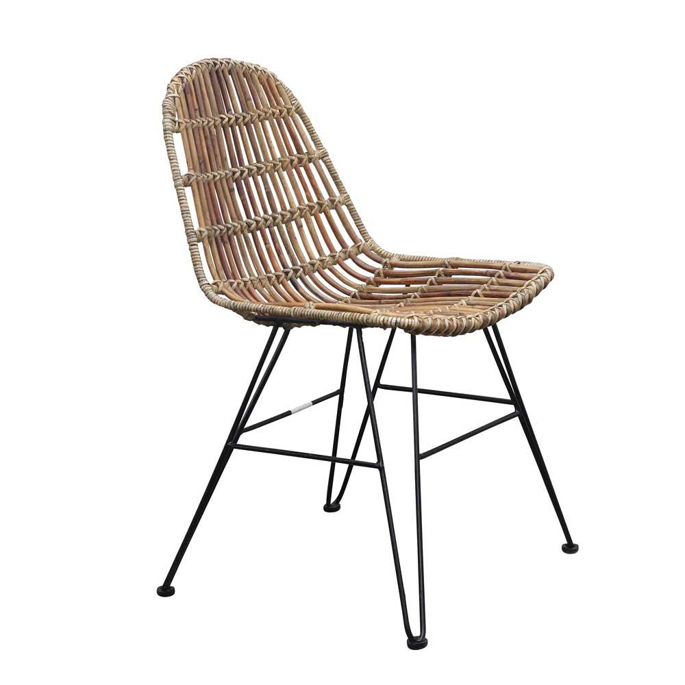 Rattanstuhl für Esszimmer Metall   Wohnzimmer > Sessel > Rattansessel   Holz   Geflecht   Möbel Exclusive