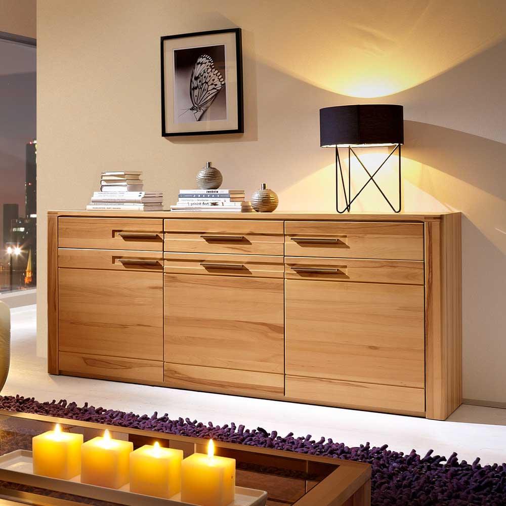 Wohnzimmer Sideboard aus Kernbuche lackiert online kaufen