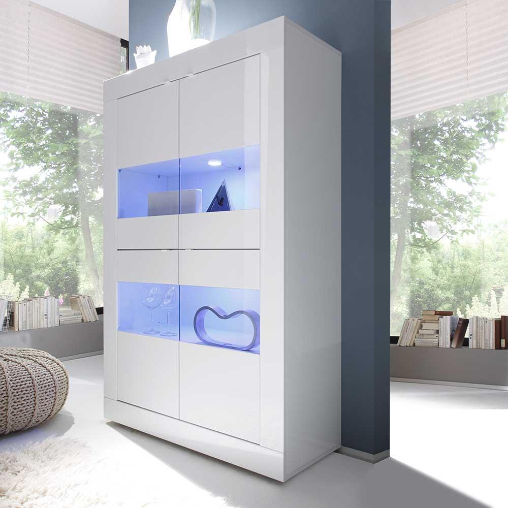 hochglanz-holzwerkstoff Standvitrinen online kaufen | Möbel ...