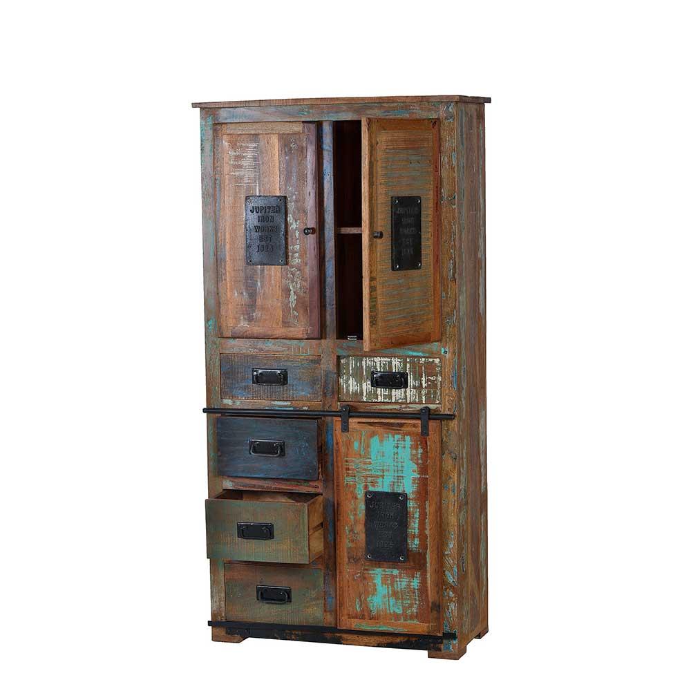 braun-recyclingholz Badezimmerschränke online kaufen | Möbel ...