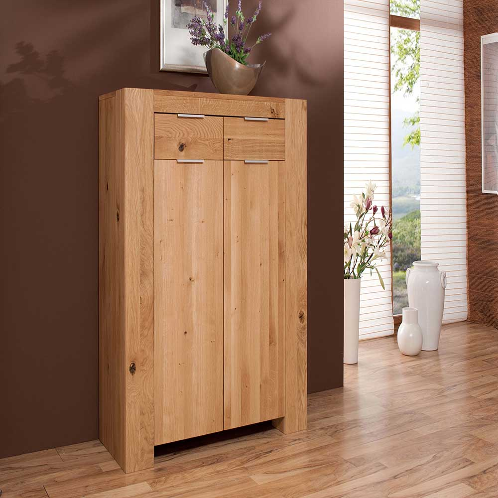 Highboard aus Wildeiche massiv 110 cm