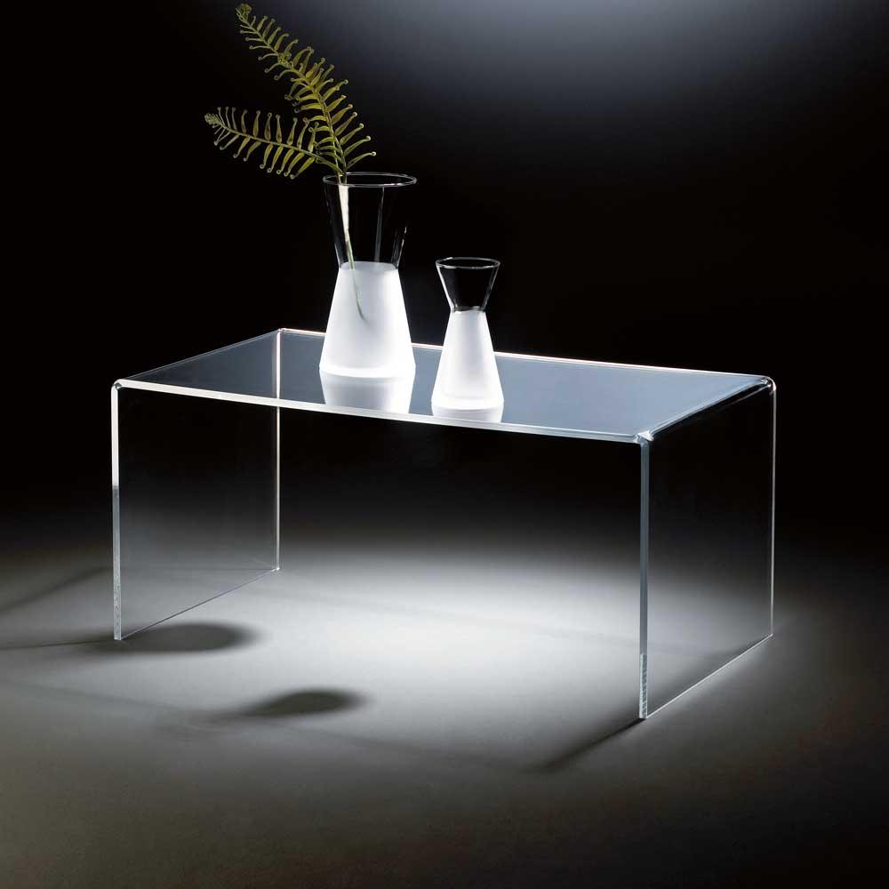 Wohnzimmer Couchtisch aus Acrylglas 90 cm breit