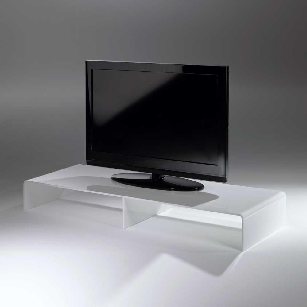 TV Konsole in Weiß Acrylglas