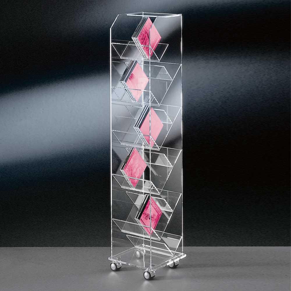 CD Regal aus Acrylglas modern | Wohnzimmer > TV-HiFi-Möbel > CD- & DVD-Regale | Weiß | Glas | TopDesign