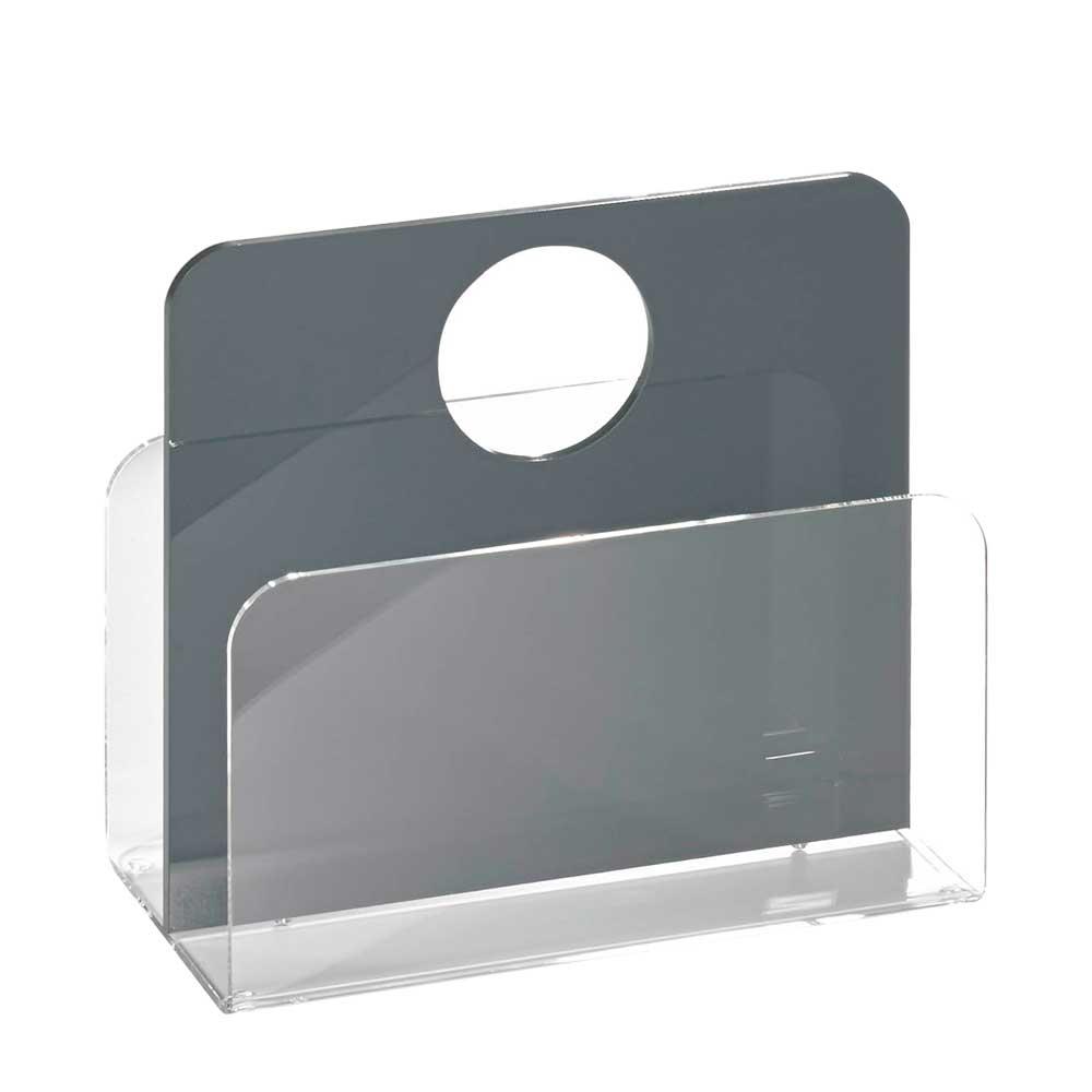 Zeitschriftenständer in Grau Acrylglas | Dekoration > Aufbewahrung und Ordnung > Zeitungsständer | Grau | Glas | TopDesign